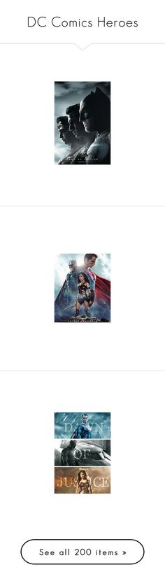 """""""DC Comics Heroes"""" by ameve ❤ liked on Polyvore featuring editorials, pictures, backgrounds, pics, home, home decor, wall art, penguin poster, wonder woman poster and dc"""