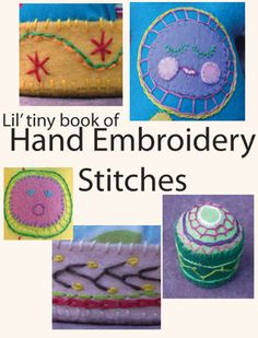Free printable booklet of embroidery stitches - from Muse of the Morning  to go in the girls sewing kit