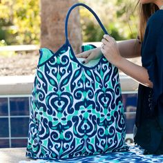 20 L x 8 W x 15.75 H Polyester Inside Lining Reinforced Bottom Inside Zipper Pocket Price Includes Monogram! Choose Font Here Choose Thread Color Here **Please note the order of initial monograms** first name initial, LAST NAME INITIAL, middle name initial You MUST indicate which initial is which (sRd, s-first name, r-last name, d-middle name).