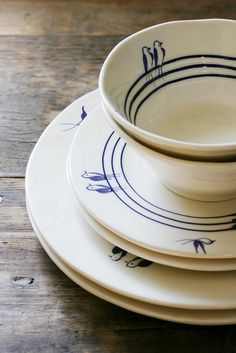 blue birds - reminds me on Nanna's 50's Japanese crockery
