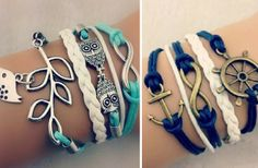 30 Styles of Layered Bracelets 64% off at Groopdealz