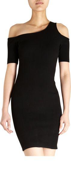 HELMUT One-Shoulder Short Sleeve Dress