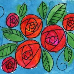 How to Draw Circle Roses