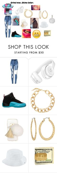 """""""Gangsta"""" by booboo71304 ❤ liked on Polyvore featuring Beats by Dr. Dre, Retrò, Fallon, Ashlyn'd, Fragments, Herschel Supply Co. and Topshop"""