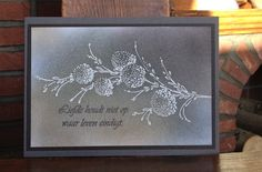 Elke Verschooten, elke's blog: Penny Black stamp; Wow Embossing Powder; sponging; condolence card