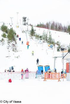 Downhill skiing @ Öjberget, Photo by Katja Lösönen Time Activities, Cross Country Skiing, Winter Time, Finland, Fair Grounds, Swimming, Travel, Outdoor, Swim