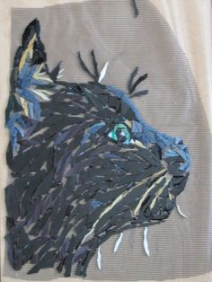 wip ,, a mosaic cat called MISSY MOO by Kat Gottke,,9th dec 2012