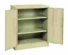 Sandusky Lee RTA7001 07 Putty Steel SnapIt Counter Height Cabinet, 2  Adjustable Shelves,