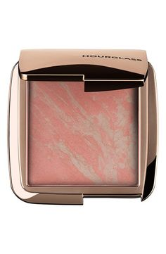 Hourglass | Lighting Blush: Apply with a foundation/blush brush. Swirl the entire compact with your brush to pick up the perfect balance of pigment and powder | #beauty #makeup | www.notjustpowder.com