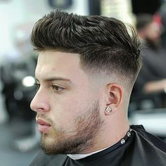 20 min with the pic. Very busy but the early brid gets the worm. Frist come frist serve am in at to 7 no appointment. Fade Haircut With Beard, Short Fade Haircut, Mens Hairstyles With Beard, Messy Short Hair, Beard Haircut, Cool Short Hairstyles, Boy Hairstyles, Hair And Beard Styles, Haircuts For Men