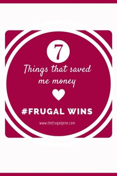 This has been a great month for frugal wins. We have not experienced any #FrugalFails this month so this post will be how we can save so much money without much effort! #FrugalWin