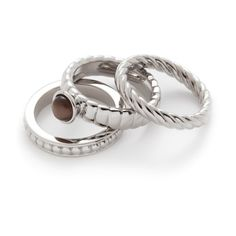 Leonardo Set/3 Ring 17 Trio Twirl. #rings #jewelry #leonardo #ringset