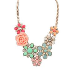 Trendy Mela Brings Beora Gold Plated Rose Fashion Necklace