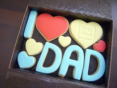 Father's day cookies - I heart dad