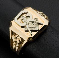 Two Tone Gold Masonic Ring. #heritageauction