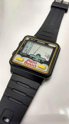 Casio Vintage Watch, Casio Watch, Retro Watches, Vintage Watches, Mechanical Art, Vintage Video Games, Home Computer, Game & Watch, Retro Toys