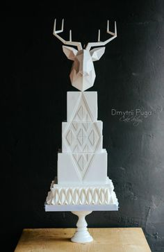 Geometric cake - cake by Dmytrii Puga Pretty Cakes, Cute Cakes, Beautiful Cakes, Amazing Cakes, Fondant Cakes, Cupcake Cakes, Geometric Cake, Cake Trends, Take The Cake