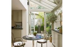 Prefer this sort of conservatory. Conservatory Kitchen, Conservatory Design, Small Conservatory, Conservatory Extension, Garden Room Extensions, House Extensions, Beautiful Kitchens, Beautiful Homes, Roof Design