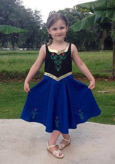 Anna pdf dress pattern size 2T, 3T, 4, 5, 6, 6X, 7, 8 Frozen inspired on Etsy, $6.00