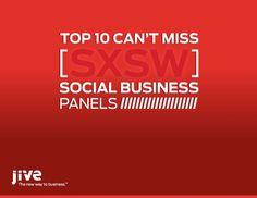 Jive's Top 10 SXSW Social Business Panels