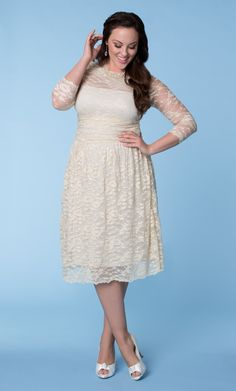 Check out the deal on Aurora Lace Wedding Dress at Kiyonna Clothing (I think this is the ONE maybe)