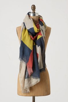 Sea Language Scarf $79.95 from Anthropologie. Love the design and colors!