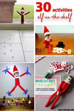Elf-on-the-Shelf Ideas. So many ideas! Pick a different activity each day!