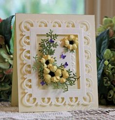 yellow roses using Spellbinders Rose Creations dies