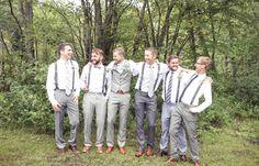 Groomsmen | Vintage wedding photography | www.newvintagemedia.ca | Bala Wedding