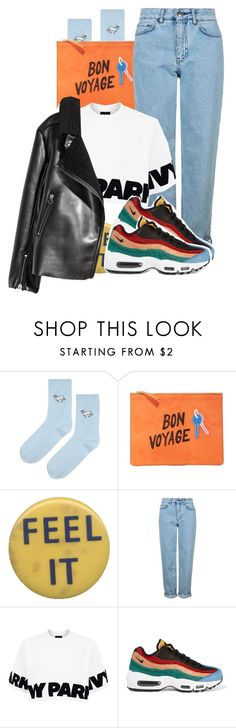 """""""buen viaje"""" by candyhearts-xo ❤ liked on Polyvore featuring Topshop, Lizzie Fortunato and NIKE"""