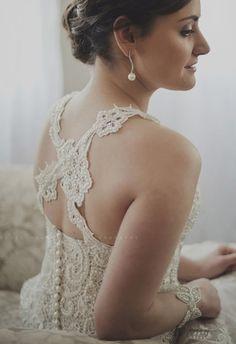 Cross back lace wedding dress (made by Elamri Jacobs) Hairdo Wedding, Wedding Gowns, Lace Wedding, Sister Wedding, Wedding Day, Blue Lace, Dress Making, Wedding Photography, Bride