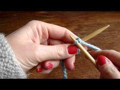 Monter souplement des mailles (adapté aux châles, et à la dentelle au tricot) - YouTube