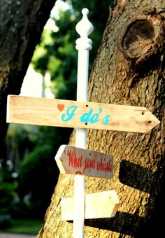 Information signboard for wedding