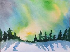 Watercolour for beginners Watercolour for beginners -Aurora Borealis - A series of courses for beginners to art or people who need a refresher course. We cover watercolour, acrylics, collage and mix (Cool Paintings Acrylics)