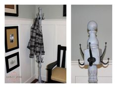 DIY trash to treasure coat rack