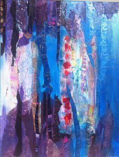 paint & paper collage art