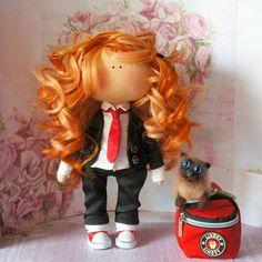 #интерьернаякукла #интерьерныеигрушки #кукла #кукларучнойработы #куклаизткани #куклаинтерьерная #текстильнаякукла #своимируками #моехобби #творчество #дляинтерьера #длядома #длядуши #рукоделие #handmade #madewithlove #doll #instadoll #interior #interiordoll #toy #forsoul #love #family #happy Red Dolls, Harajuku, Style, Swag, Outfits