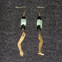 Special order earrings made for someone who runs marathons. Milagros