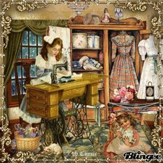 The Sewing Room Joyful226 Pretty Gif, Beautiful Gif, Vintage Pictures, Pretty Pictures, Gifs, Good Night Gif, Beautiful Christmas Cards, Peace Art, Vintage Winter