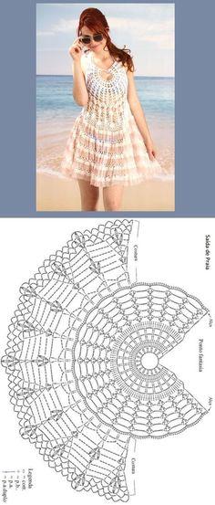 Croche da Moda : Gráficos e receitas – Saídas de praia de crochê