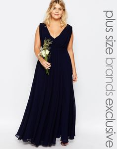 Image 1 ofFame And Partners Plus Valencia Maxi Dress
