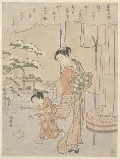 Suzuki Harunobu Title:Poem by Fujiwara no Motozane (ca. 860) from the Series Thirty-Six Poets Date:ca. 1768