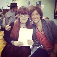 I met Jack Donnelly from BBC Atlantis aaah he's got my favourite bracelet now (I'm wearing it in the pic)