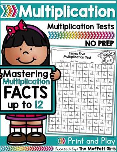 Mastering multiplication facts is such an important component to math fluency. This packet is hands-on, FUN, engaging and provides students with a meaningful way to help master basic multiplication facts from while having FUN! Multiplication Timed Test, Multiplication Strategies, Math Fractions, Maths, Math Fact Fluency, Phonics Activities, Classroom Activities, Math Graphic Organizers, Math Word Problems