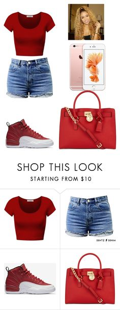 """-Glo Queen"" by theflawless-doll on Polyvore featuring DK, NIKE, Michael Kors and Anaïs"