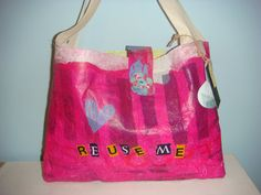 19/03/2012: Fused Plastic Bag made from recycled shopping bags £12.00