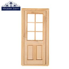Miniature Paned Door
