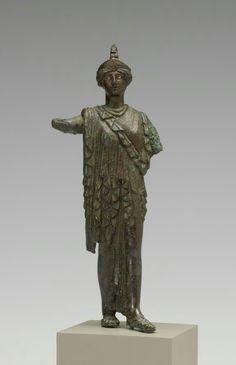 Bronze statue of Athena Promachos. Roman, c. 1st century A.D. | The Walters Art Museum