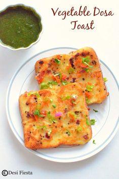 Vegetable Dosa Toast Recipe