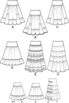 peasant skirt pattern